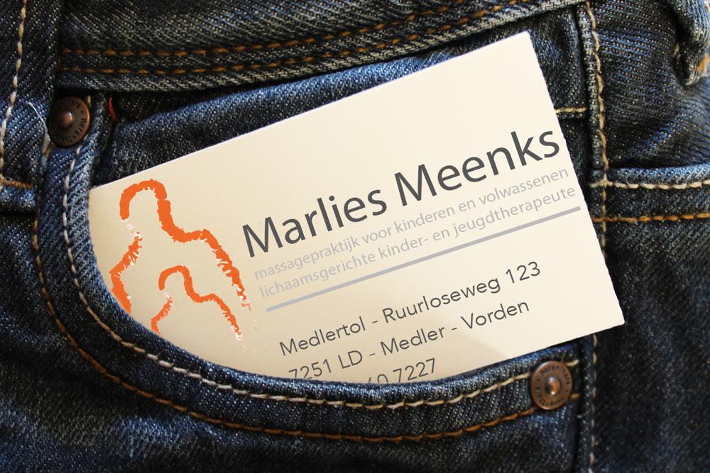 Visitekaartje Marlies Meenks
